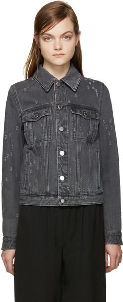 Givenchy jacket denim jacket denim grey
