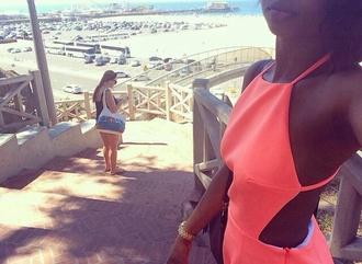 dress coral dress summer summer dress mini dress coral dress pink dress