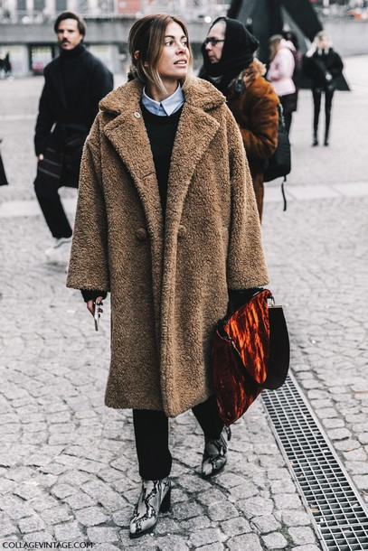 Coat Fashion Week 2017 Tumblr Fashion Week Street Style Streetstyle Camel Oversized Coat