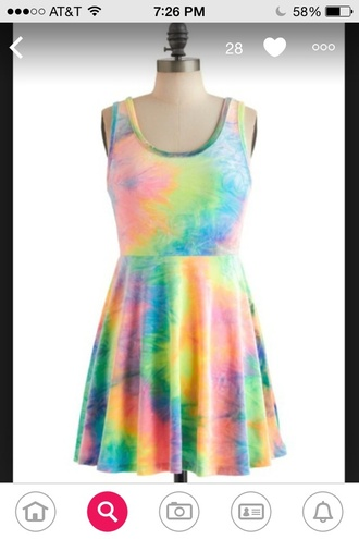 dress tie dye summer dress beach summer style cool hipster