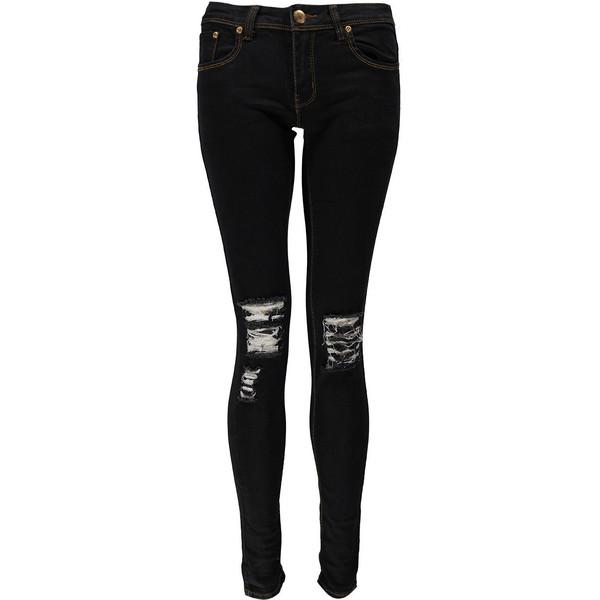 Boohoo loren distressed ripped knee skinny jeans