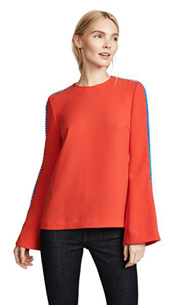 Galvan London blouse red top