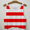 Red striped crop top from luminated youth on storenvy ($25.00) - svpply