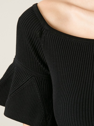 Carven Ribbed Ruffled Top - Elite - Farfetch.com