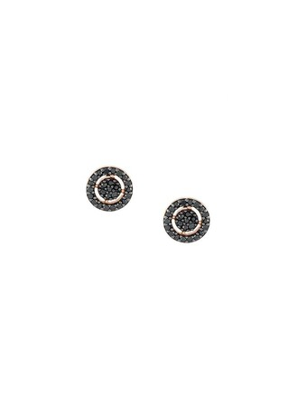 mini women earrings stud earrings black jewels