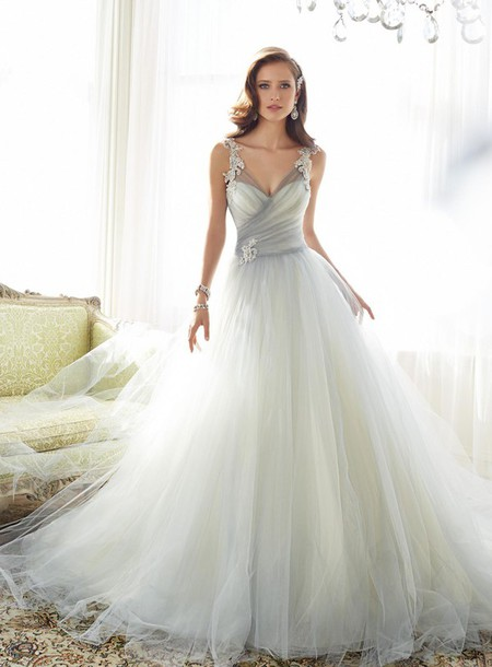 dress wedding dress A line wedding gowns
