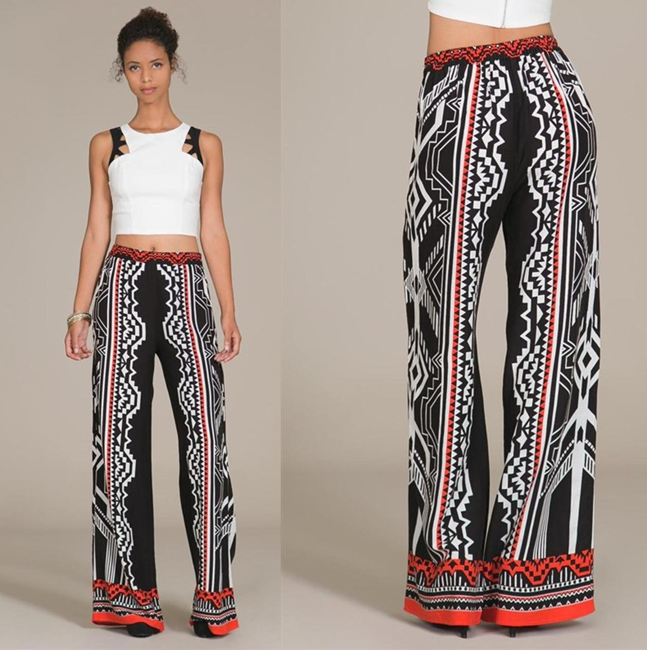 Black print palazzo pants · trendyish · online store powered by storenvy