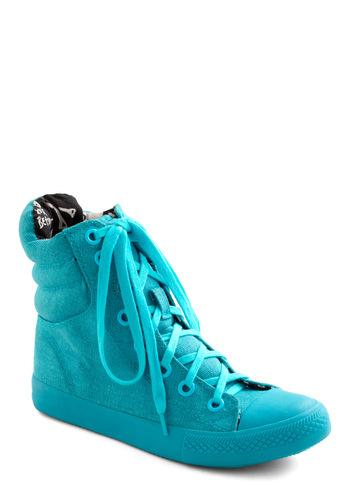 Betsey Johnson You're My Shoe, Blue Sneaker | Mod Retro Vintage Flats | ModCloth.com