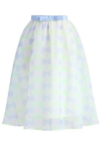 skirt bowknot flair organza midi skirt chicwish midi skirt organza skirt flair skirt bowknot skirt floral skirt white floral short dress