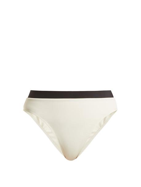 SOLID & STRIPED The Alexa high-waisted bikini briefs in cream