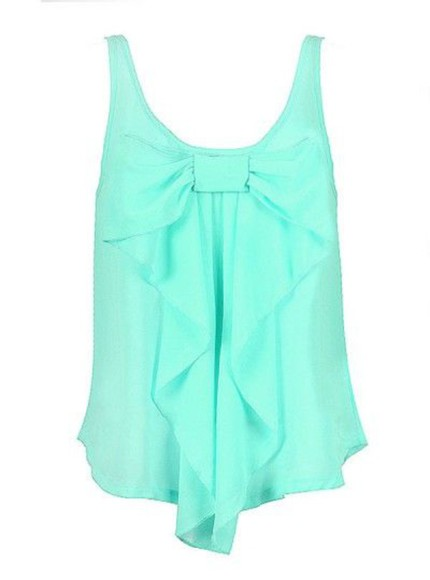 blouse bows mint
