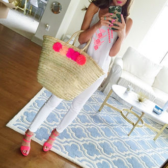 southern curls and pearls blogger make-up jewels underwear bag top shorts hat