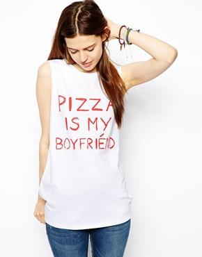 Asos tank with pizza is my boyfriend at asos