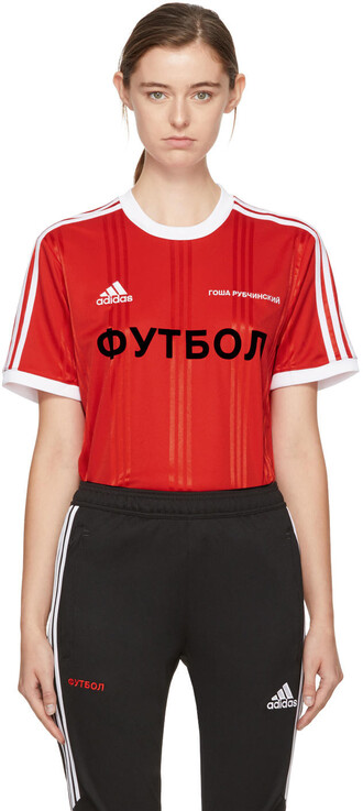 t-shirt shirt adidas originals red top
