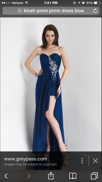 dress blush prom