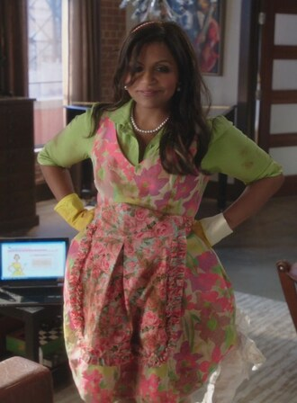 dress multicolor mindy kaling the mindy project mindy lahiri