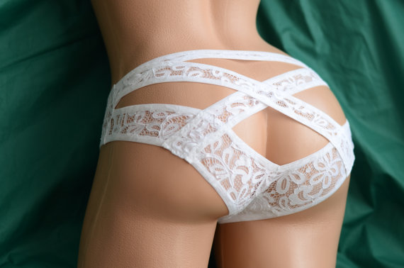 Wedding Bridal Bride Honeymoon Women Underwear by LoLeviLa on Etsy
