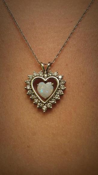 heart jewels necklace birthday jewelry