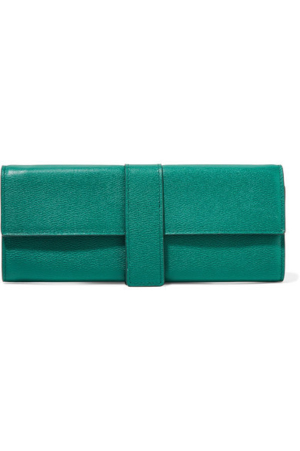 7429e199d06d Smythson - Grosvenor Textured-leather Jewelry Case - Emerald