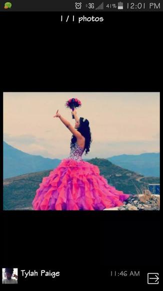 ruffles purple pink dress princess
