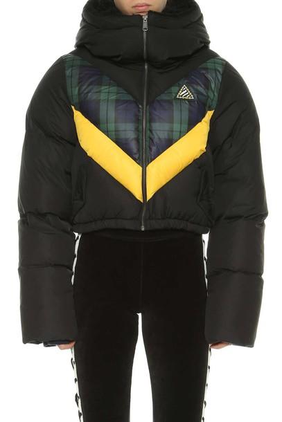 jacket down jacket cropped black