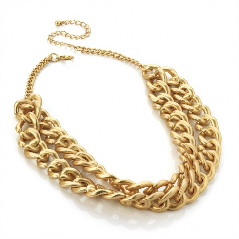 Chunky Chain Matte Gold Necklace