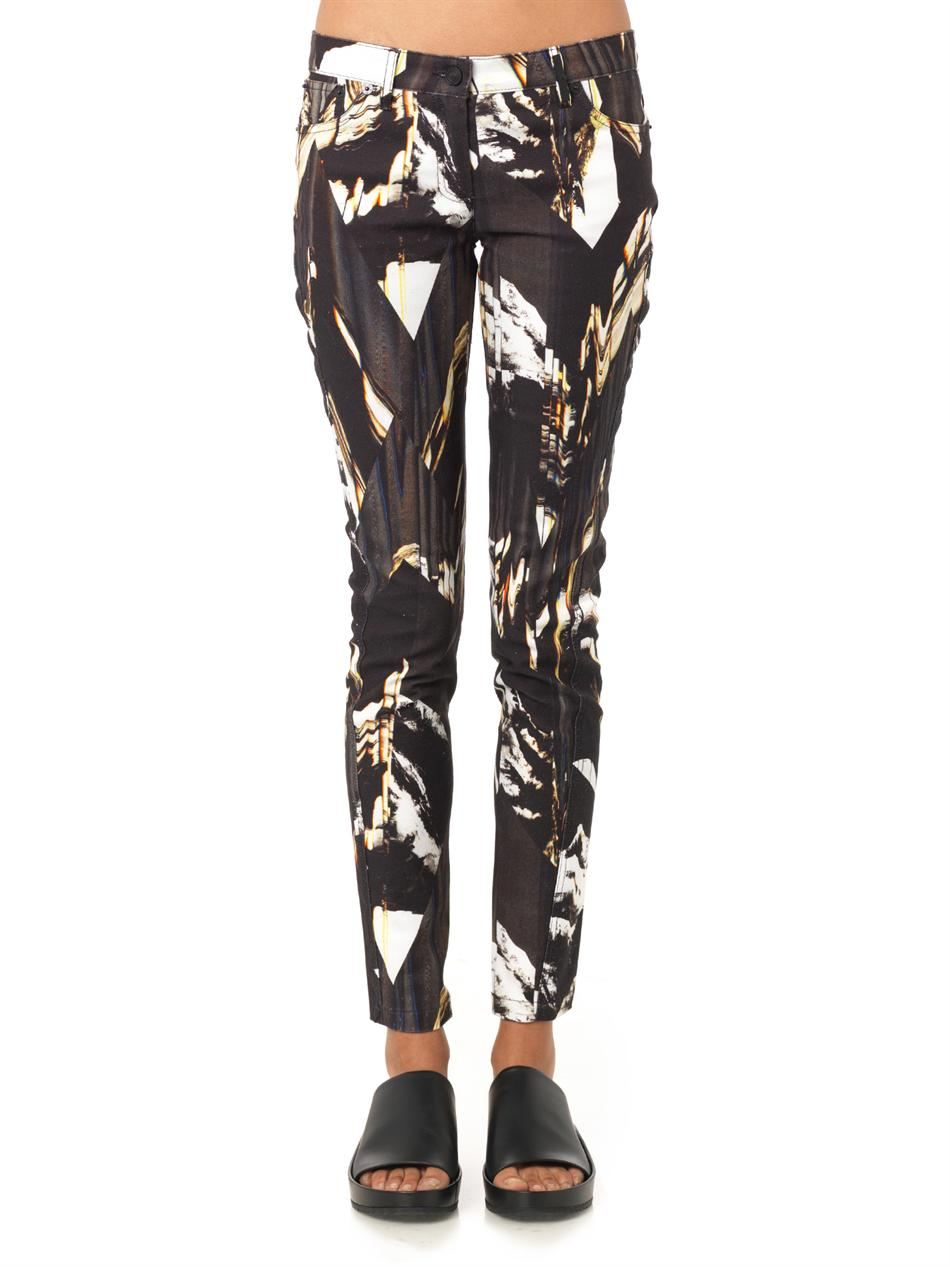 Mountains-print mid-rise skinny jeans | Kenzo | MATCHESFASHION...