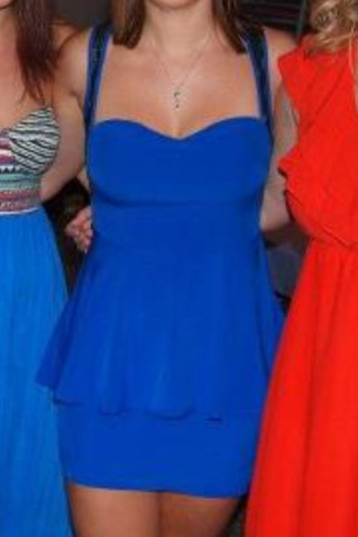blue dress cobalt dress