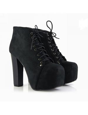 Zena black platform ankle boots shop jeffrey campbell lita inspired platform boots online - Jeffrey campbell lita platform boots ...