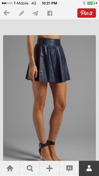 black skirt circle skirt leather