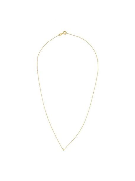Wouters & Hendrix Gold women necklace diamond necklace gold white grey metallic jewels