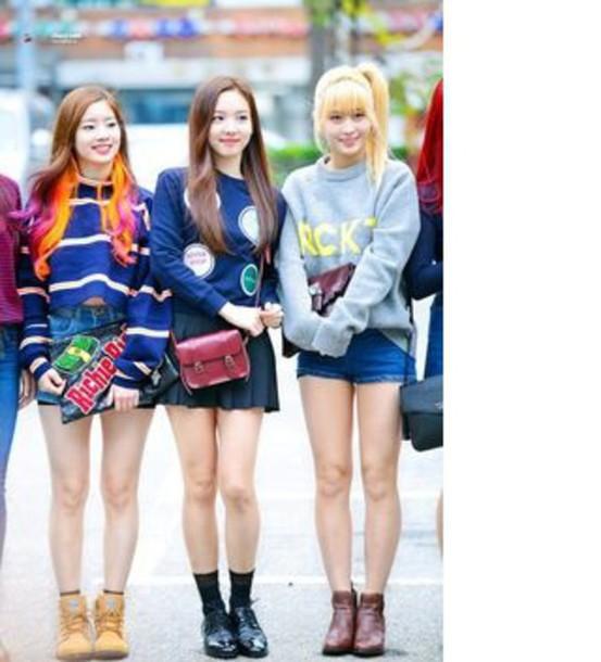 Sweater Kpop Idol Twice Korean Fashion Asian Cute