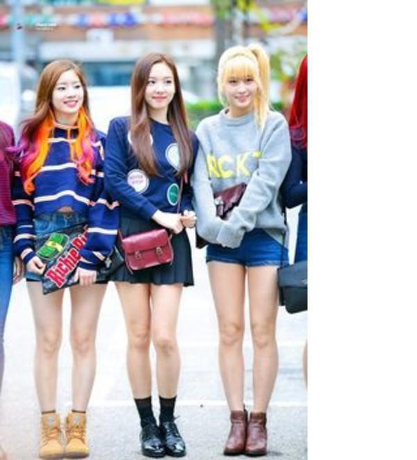 Sweater Kpop Idol Twice Korean Fashion Asian Cute Oversized Soft Warm Sweet Nice