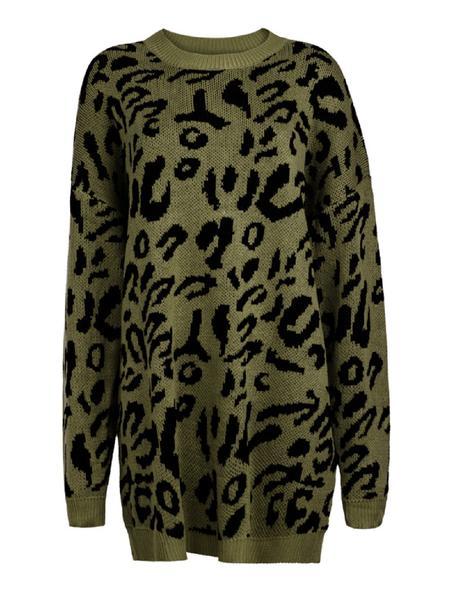 'Sophia' Leopard Print Long Sweater (4 colors)
