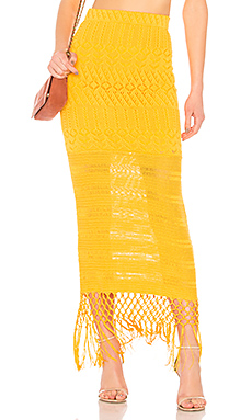 House of Harlow 1960 x REVOLVE Sandra Skirt in Gold from Revolve.com