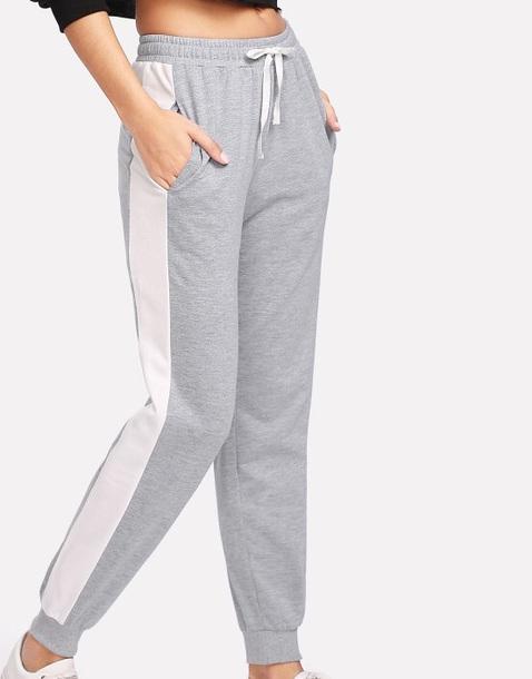 pants girl grey white joggers joggers pants