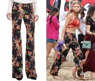 pants 90210 print trousers naomi clark floral print