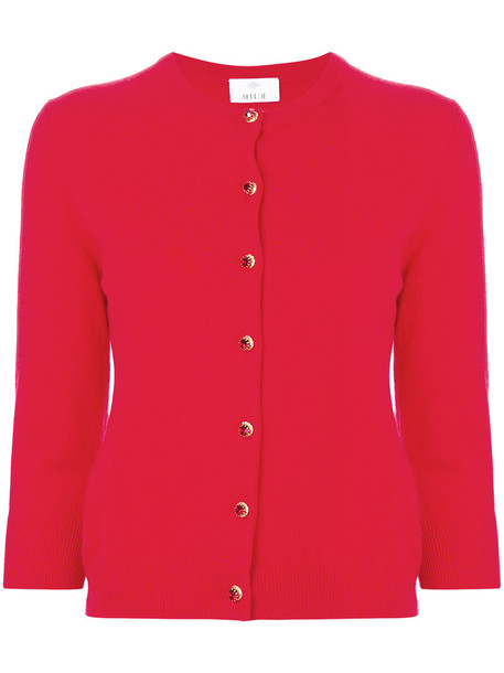 Allude - fitted cardigan - women - Cashmere/Virgin Wool - S, Red, Cashmere/Virgin Wool