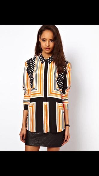 blouse orange blouse shirt pattern