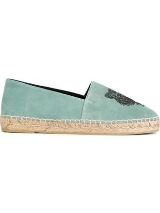 tiger espadrilles green shoes