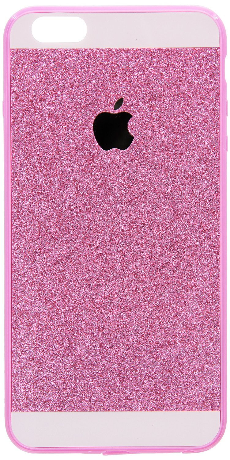 new concept 7a484 17e9f Amazon.com: iPhone 6 Plus Case , Luxury Hybrid TPU Hard Shiny Bling Glitter  Sparkle With Crystal Rhinestone Cover Case Pink: Cell Phones & Accessories
