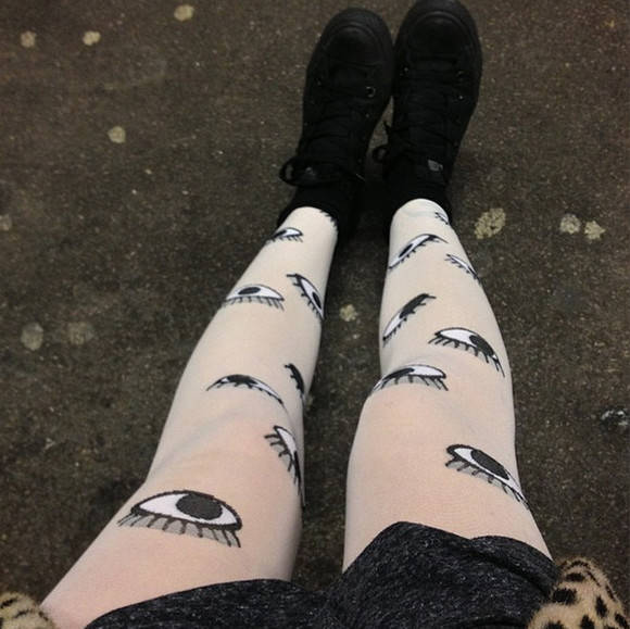 tights eyes goth hipster eye gothic pants eye tights goth hipster soft grunge grunge kawaii harajuku quirky cute adorable weird leggings pale scene lovely japan japanese fashion monkey sold out unique punk punk pop hipster punk strange different alternative