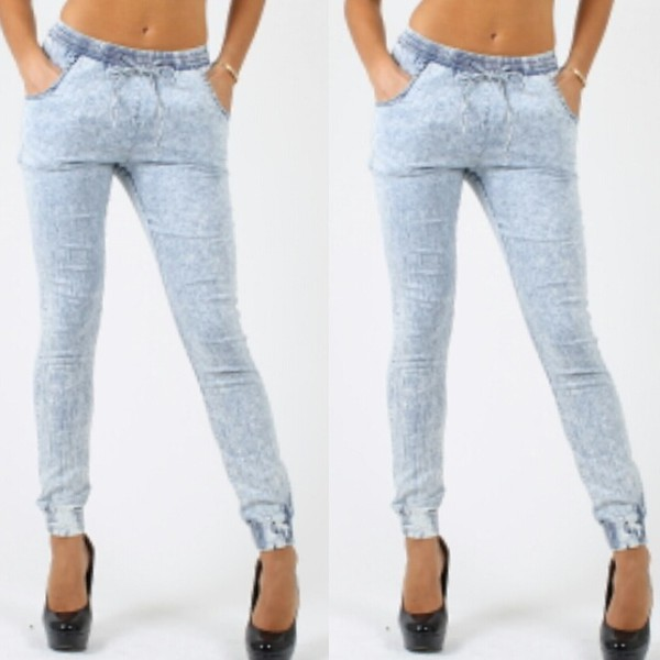 joggers sweatpants denim denim jogger pants
