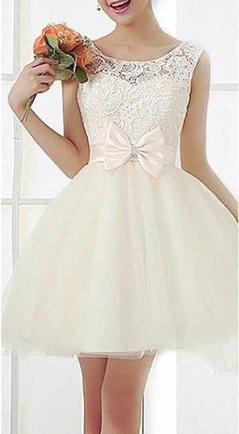 Aliexpress.com : buy women dress 2015 spring new european fashion organza bow crochet lace dress sleeveless plus size white casual dresses 12.15 41 from reliable dress wear summer wedding suppliers on online store 336563
