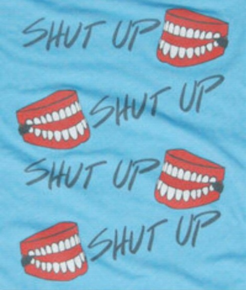 shirt mouth teeth tank top graphic tee shut up top tumblr