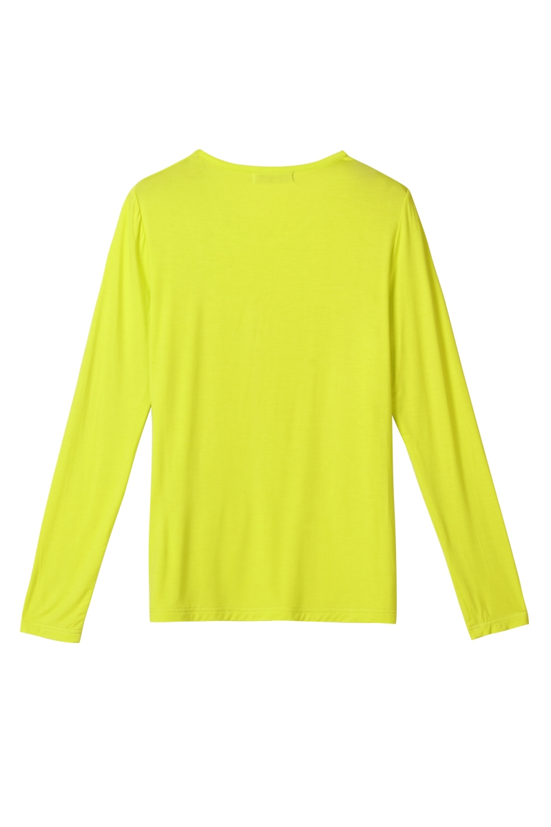 Long sleeves top with round neckline