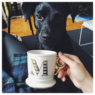 home accessory mug mono initials dog