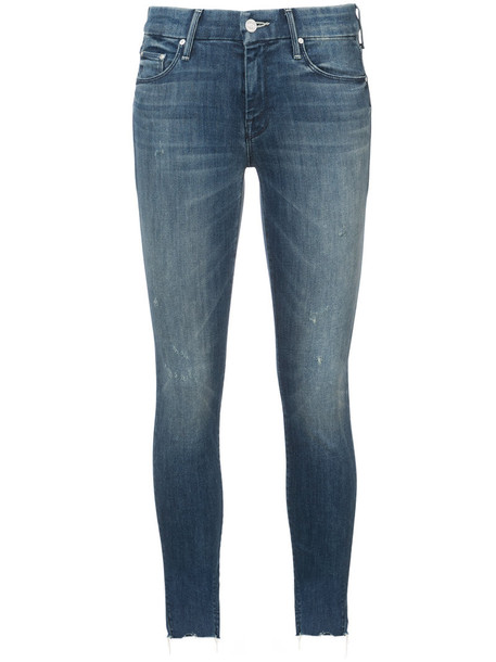 Mother jeans skinny jeans women spandex cotton blue