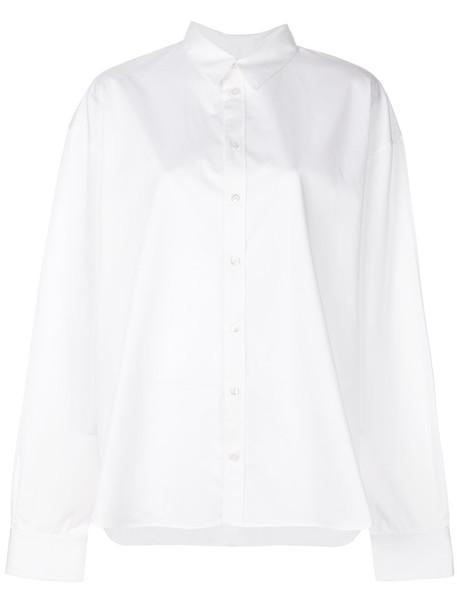 Y / Project shirt women white cotton top