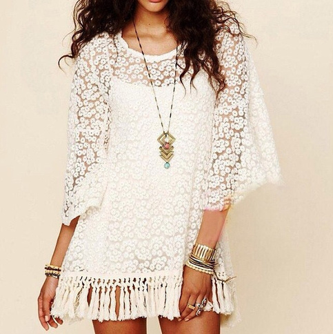 Bohemian floral lace dress · fashion struck · online store powered by storenvy